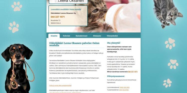Eläinlääkäri Leena Oksanen